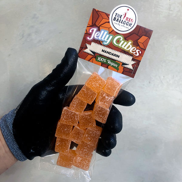 120g bag of Mandarin flavoured jelly cubes
