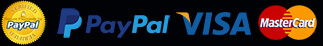 Secured payments through verified PayPal.