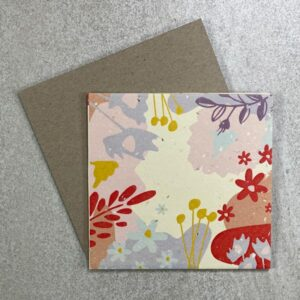 """Candy Pop"" plantable card. 100% recycled. Eco friendly cards."