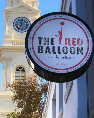 The Red Balloon Candy Artisans were located near Prahran Town Hall