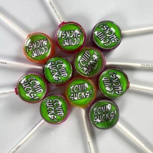 COVID Sucks lollipops (Set of 10).