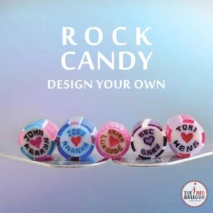 Design your own wedding or corporate branded rock candy