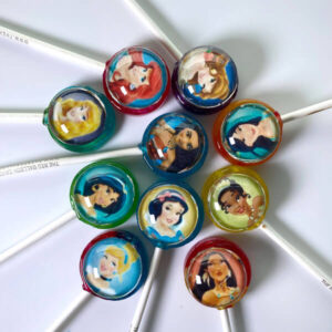 Disney Princess Pops including Ariel, Aurora, Belle, Cinderella, Jasmine, Mulan, Snow White, Tiana & Pocahontas
