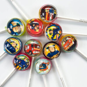 Fireman Sam Pops showcasing lollipop designs from the popular tv series.