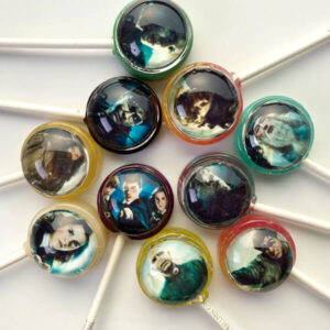 Harry Potter lollipops with characters from the movie incl. Harry Potter, Hermione Granger, Ron Weasley, Rubeus Hagrid, Professor Albus Dubledore & Lord Voldemort