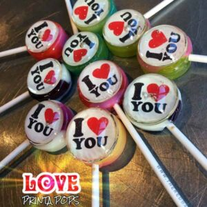 I Love You lollipops