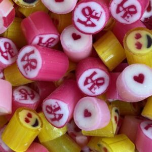 Love mix rock candy - Love, Hearts and Smiley Faces.