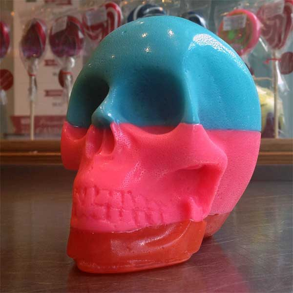 beautifully designed candied monster rock skulls
