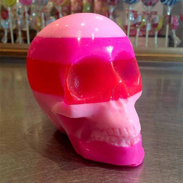 edible monster candy skull with amazing colours and flavours