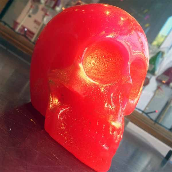 monster sized candy skulls in vibrant colours