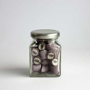 80 grams of Thank You candy in a square jar